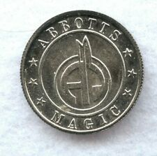 Vintage ~ Abbott'S Magic Coin Token ~ Unc