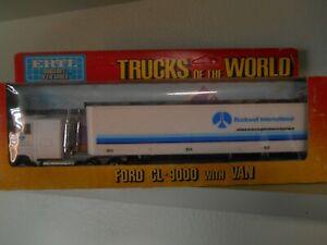 Trucks of the World 1/64 Ertl Ford CL-9000 Rockwell Int. cargo van.  #1313