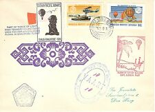 Singapore  Mongolia 1974 Hot Air Balloons Cover Cathay Pacific Airways