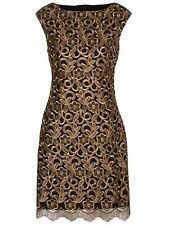 Ralph Lauren Montague Black/Copper lace dress, size UK12, US 8