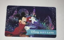 New Disney Gift Card 2017 Glitter Sorcerer Mickey $0 BALANCE NO VALUE