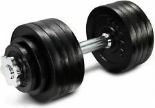 52.5lb total Adjustable Dumbbell with Cast Iron Weights YES4ALL Bowflex IN HAND