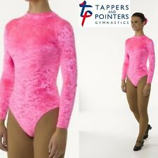 Turtle Neck Velvet Long Sleeve Leotard with Keyhole Back - Available in 7 Colour