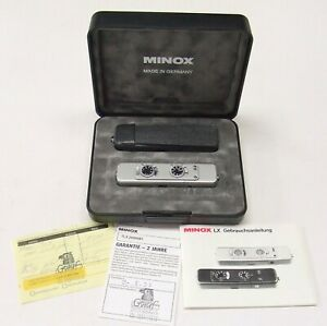 MINOX TLX  SUBMINIATURE TITANIUM CAMERA + CASE + PAPERWORK + BOX
