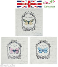 Butterfly Le Papillon Square Metal Wall Hanging Paris Country Chic Nature