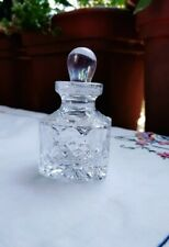 Vintage Crystal Perfume Scent Bottle With stopper