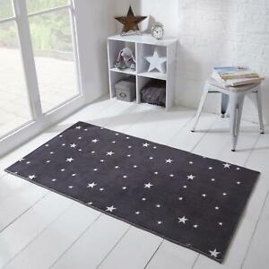 Dreamscene Star Print Rug Anti-Slip/Skid Bedroom Soft Non-Shed Floor Mat Kids