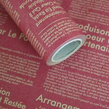 "Roll Gift Wrapping Kraft Paper French Language Styles Red 20.8"" X (L) 32.8ft"""