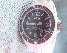Fila Black Dial Unisex Divers Sports watch WR 50m New Battery