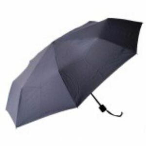 Light Weight Anti-UV Rain Sun Windproof Manual Umbrella - BLACK