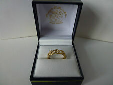 NEW, Ladies, 9carat 9ct Yellow Gold Celtic Eternity Ring, size K