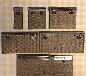 FULL SIZE MEDAL MOUNTING BROOCH BARS & DOUBLE BUCKRAM`S SET  1,2,3,4,5,6, SPACE