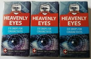 Heavenly Eye Drops for Eye Infections 30ml x 3 Boxes for Humans & Dogs