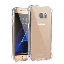 Galaxy S7 Case Jenuos Crystal Clear Shockproof Transparent Silicon TPU Bumper