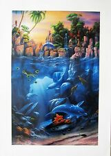 THE LAGOON  DAVID MILLER  LITHOGRAPH 1993  LIMITED EDITION  Signed  SURREALISM