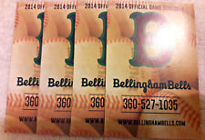 2014 BELLINGHAM BELLS 4 SCHEDULE LOT WEST COAST LEAGUE WASHINGTON NM/MT 00107