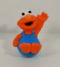 "1993 Elmo Roly Poly Weeble 3"" Action Figure Sesame Street Workshop"