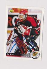 92/93 Upper Deck Jim Waite Chicago Blackhawks Autographed Hockey Card