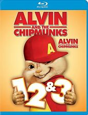 Alvin and the Chipmunks 1,2,3 TRILOGY , Blu-Ray , English/French , New Sealed