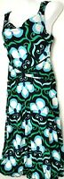 Enfocus Womens Dress Stretch Pullover Floral Blue Sleeveless Size 6