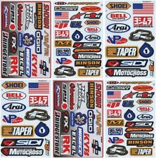 Motocross Racing Decal Sticker Kit Set 6 Sheets / set