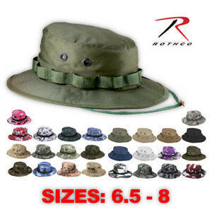 Rothco Tactical Military Camo Bucket-Wide Brim Sun Fishing Boonie Hat
