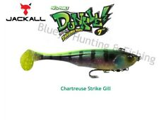 Jackall Dunkle 7'' Big Bait soft plastic Barra cod fishing lure; Chartreuse gill