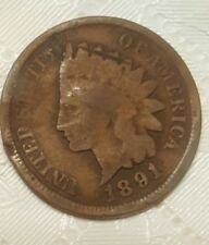 1891 Indian Head Cent w/multiple errors