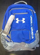 Under Armour Hustle Backpack Storm Bag Blue Silver Grey New Water Resistant NEW