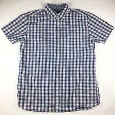 Vintage Tommy Hilfiger Men's Short Sleeve Classic Fit Button Down Plaid Shirt