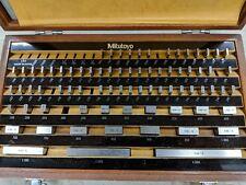 MITUTOYO 76 PC. GAGE BLOCK SET BE1-81-2 GRADE 2 516-902 GAUGE NICE ORIG. CASE
