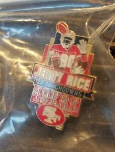 Jerry Rice # 80 127 Touchdowns 49ERS SF All Time Leader NFL Football Pin Back