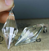 5pcs 12 sided VOGEL Style Natural Clear Quartz Crystal DT Wand POINT Pendant
