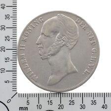 Niederlande: 2 1/2 Gulden 1845 - König Wilhelm II. - Silber