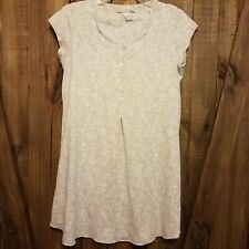 VTG Eileen West Womens Gown Nightie Sleepwear Small 100% Cotton Buttons Floral