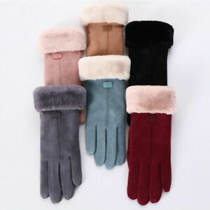 UK Winter Thermal Warm Soft Sheepskin Gloves Men Women Ladies One Size Warm Soft