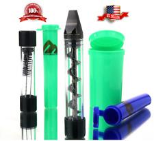 Twist Twisty Glass Blunt Pipe 3 Containers Cleaner Brush Smoking Kit (Gun Metal)