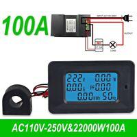 AC 5KW 85~250V Digital Voltage Meters Indicator Ammeter Current Amps Volt Tester