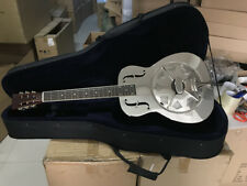 Clearance 100%New O Style Gloss Chrome Plated Bell Brass Metal Resonator Guitar