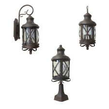 Aluminum Outdoor Exterior Lantern Wall Lighting Fixture Rusted Sconce Hanging S