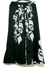 Floral Black And White Wide Pants