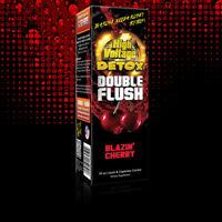 16 Oz HIGH VOLTAGE DOUBLE FLUSH BLAZIN CHERRY Detox Cleanser DRINK W CAPSULES