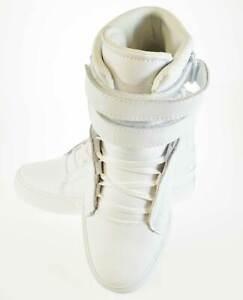 Supra Society II 2 White/White/Red/White Mens Hi Top Skate Shoes Trainers