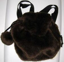 BERKLEY DESIGNS GIRLS MINI BACKPACK Brown Faux Fur Kids