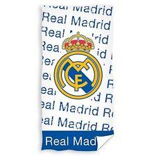REAL MADRID CF URBAN BEACH BATH TOWEL LARGE 100% COTTON FOOTBALL CLUB