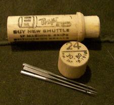 (1)  - # 24 Antique Boye Sewing Machine (3) Needle Set in wood tube  #24 30 - 80