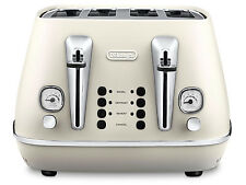 DeLonghi CTI4003W Distinta 4 Slice Toaster - Pure White