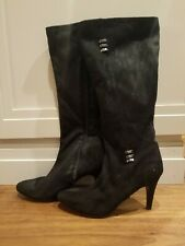Impo Stretch Women's Boots Wide Calf Teddie Black Suede Size 5.5