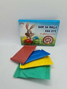 4 Colours Easter Egg Dye Paint for Decorating Craft Art Eggs 1 st class UK stock