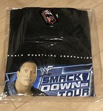 Vintage 2002 WWF Smack Down Tour The Rock Unused Tee T Shirt Size Large Rare